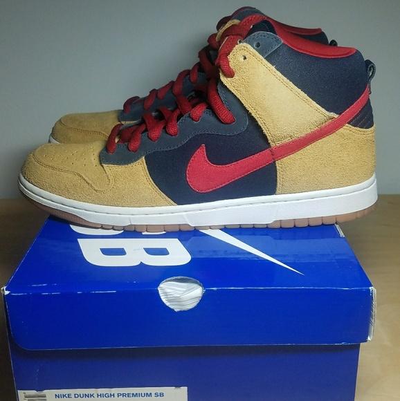 5646103e62e1 Nike Shoes | Sb Dunk Highdark Obsidianvarsity Redmapl | Poshmark